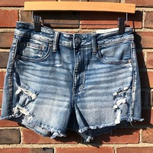 NWT American Eagle Hi-Rise Shortie Denim Shorts 12